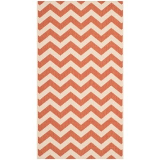 Safavieh Indoor/ Outdoor Courtyard Terracotta/ Beige Area Rug (4' x 5'7)