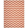 Safavieh Indoor/ Outdoor Courtyard Terracotta/ Beige Rug (5'3 x 7'7)