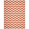 Safavieh Terracotta/ Beige Indoor/ Outdoor Courtyard Area Rug (5'3 x 7'7)