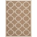 Safavieh Indoor/ Outdoor Courtyard Brown/ Bone Rug (5'3 x 7'7)
