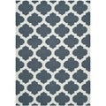 Safavieh Hand-woven Moroccan Dhurrie Blue Wool Rug (4' x 6')