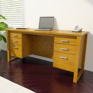 Ameriwood Bank Alder Finish Executive Desk