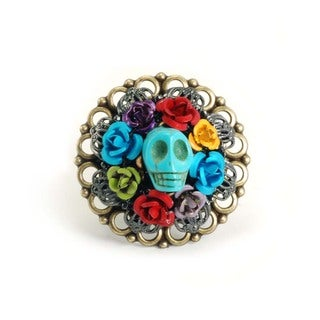 Sweet Romance Skull Wreath Ring