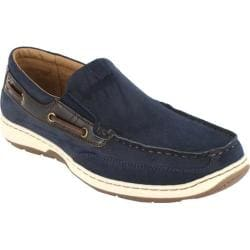 Men's Nunn Bush Outboard Navy/Brown Nubuck
