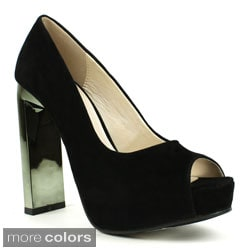 Fahrenheit Women's 'Kelly-05' Wrapped Platform Pumps