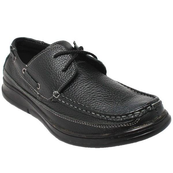 Men's Comfort Black Oxford Loafers