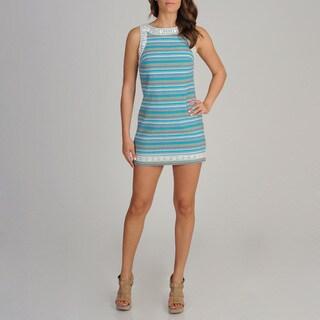 Free People Women's Striped Cotton Embellished Dress