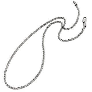 Oliveti Stainless Steel Men's 24-inch Rope Chain