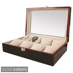 Classic Leather 8-Slot Watch Box