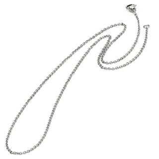 Oliveti Stainless Steel Men's 18-inch Rolo Chain