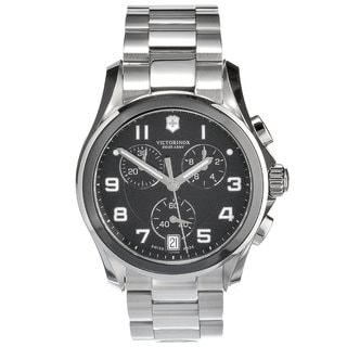 Victorinox Women's Classic Black/ Silvertone Chronograph Watch