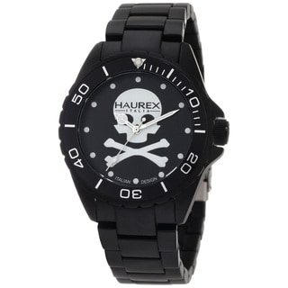 Haurex Italy Men's 'Ink' Aluminum Skull Dial Watch