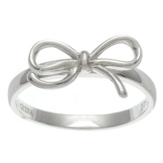 La Preciosa Sterling Silver Bow Design Ring