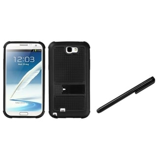 INSTEN Stylus/ Gummy Stand Phone Case Cover for Samsung Galaxy Note N7100/ T889