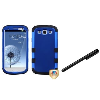 INSTEN Black Stylus/ TUFF Hybrid Phone Case Cover for Samsung Galaxy S III/ S3