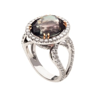 18k Gold Multicolor Tourmaline and 1 1/3ct TDW Diamond Ring (G, VS2)