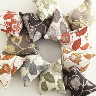 INSPIRE Q Clybourn 18-inch Toss Grey Floral Accent Pillow (Set of 2)