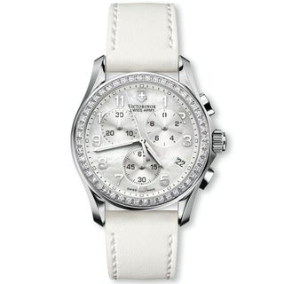 Swiss Army Women's Chrono Classic White Mother of Pearl Diamond Watch