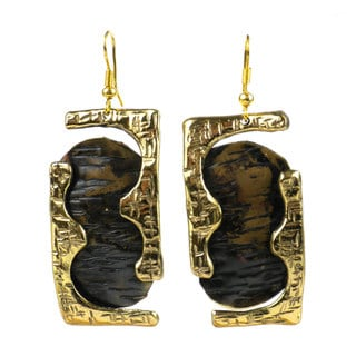 Handcrafted Road Less Traveled Brass Earrings (South Africa)