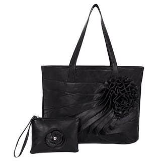 Parinda 'June' Large Faux Leather Tote/ Wristlet