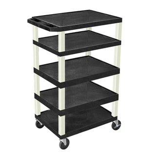 Offex Adjustable Rolling 3-shelf Tuffy AV Cart