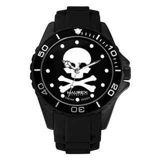 Harex Italy Women's Black Luminous Skull Watch