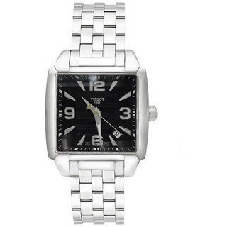 Tissot Men's Silvertone/ Black Swiss Quartz Watch