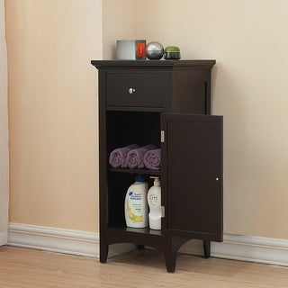 Bayfield floor single door single drawer cabinet overstock shopping great deals on for Bathroom floor cabinet with drawer