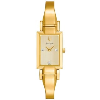 Bulova Women's Goldtone Diamond-accented Watch
