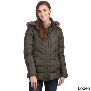 Larry Levine Women's Water Resistant Down-filled Jacket