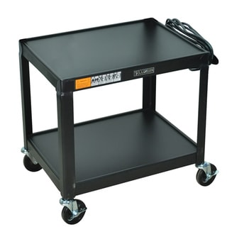 Steel 26-inch Fixed Height AV Cart