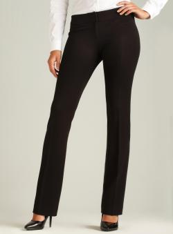Amanda + Chelsea Low Rise Waist Straight Leg Stretch Pant