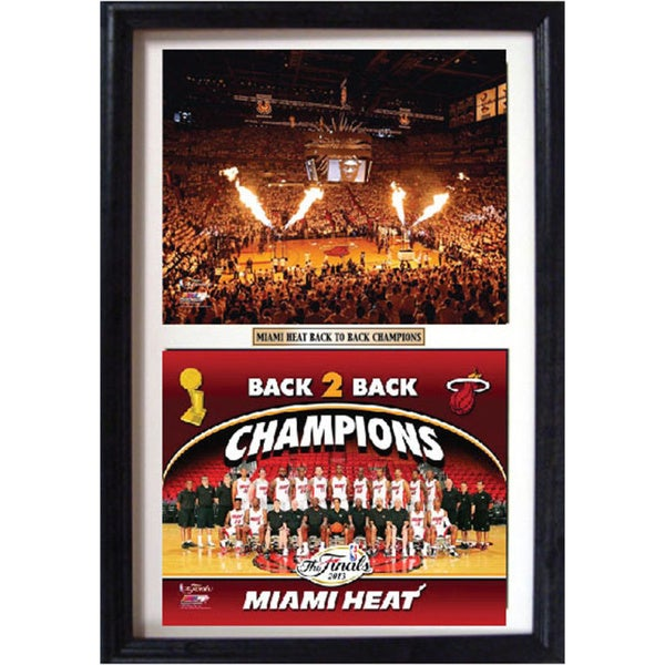Miami Heat Champions Double Photo Framed Print