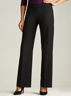 Tahari Front Slit Pocket Black Stretch Pant