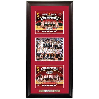 Miami Heat 2013 NBA Champions Triple-image Framed Print