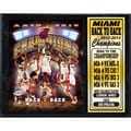 Miami Heat 2013 Back to Back Champions Stat Plaque