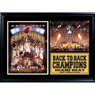 Miami Heat 2013 Champions 12x18 Photograph Stat Frame