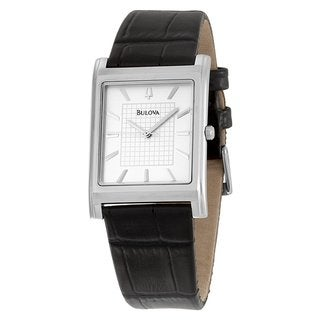 Bulova Men's Leather Strap Dress Watch