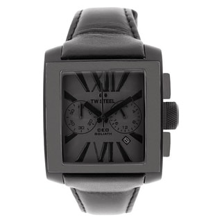 TW Steel Men's 'CEO Goliath' Black Chronograph Watch