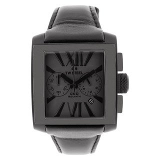 TW Steel Men's 'CEO Goliath' Black Chronograph Watch
