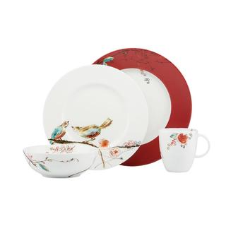 Chirp Scarlet 4-Piece Place Setting