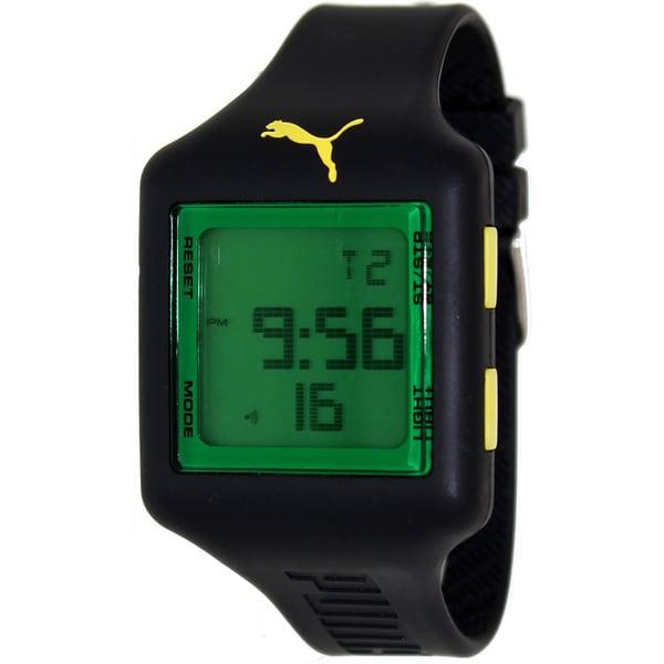Puma Men's 'Active' Black Rubber Strap Sport Watch