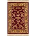 Safavieh Hand-made Heritage Red/ Gold Wool Rug (2' x 3')