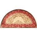 Safavieh Hand-made Empire Light Gold/ Red Wool Rug (2'6 x 5' Hearth)