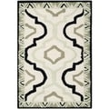 Safavieh Hand-made Chelsea Ivory/ Black Wool Rug (1'8 x 2'6)