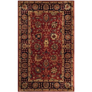 Safavieh Hand-made Persian Legend Rust/ Navy Wool Rug (3' x 5')