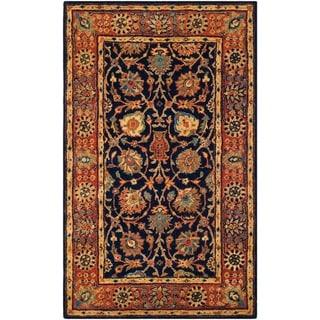 Safavieh Hand-made Persian Legend Navy/ Rust Wool Rug (4' x 6')