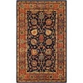 Safavieh Hand-made Persian Legend Navy/ Rust Wool Rug (4' x 6')