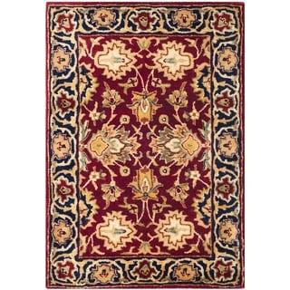 Safavieh Hand-made Persian Legend Rust/ Navy Wool Rug (2' x 3')