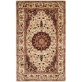 Safavieh Hand-made Persian Legend Ivory/ Ivory Wool Rug (3' x 5')